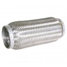 """Flexibel uitlaatdeel, gevlochten, lasstuk, 3"""" diameter, 200mm lang"""