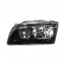 Koplamp unit, links, dubbele reflector, zwarte behuizing, Volvo S40, V40, ond.nr. 30899678